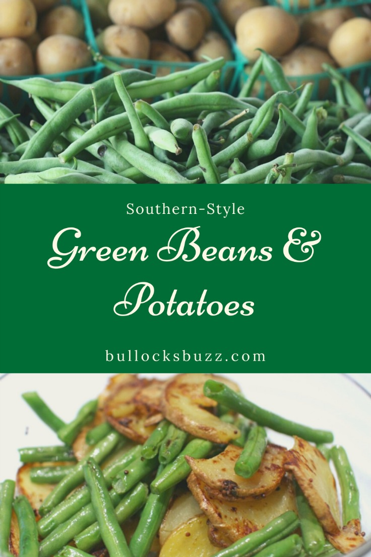 Fresh green beans, baby potatoes, smoky bacon, and sweet onions come together perfectly to create an irresistibly delicious side dish in this Southern Green Beans and Potatoes recipe.