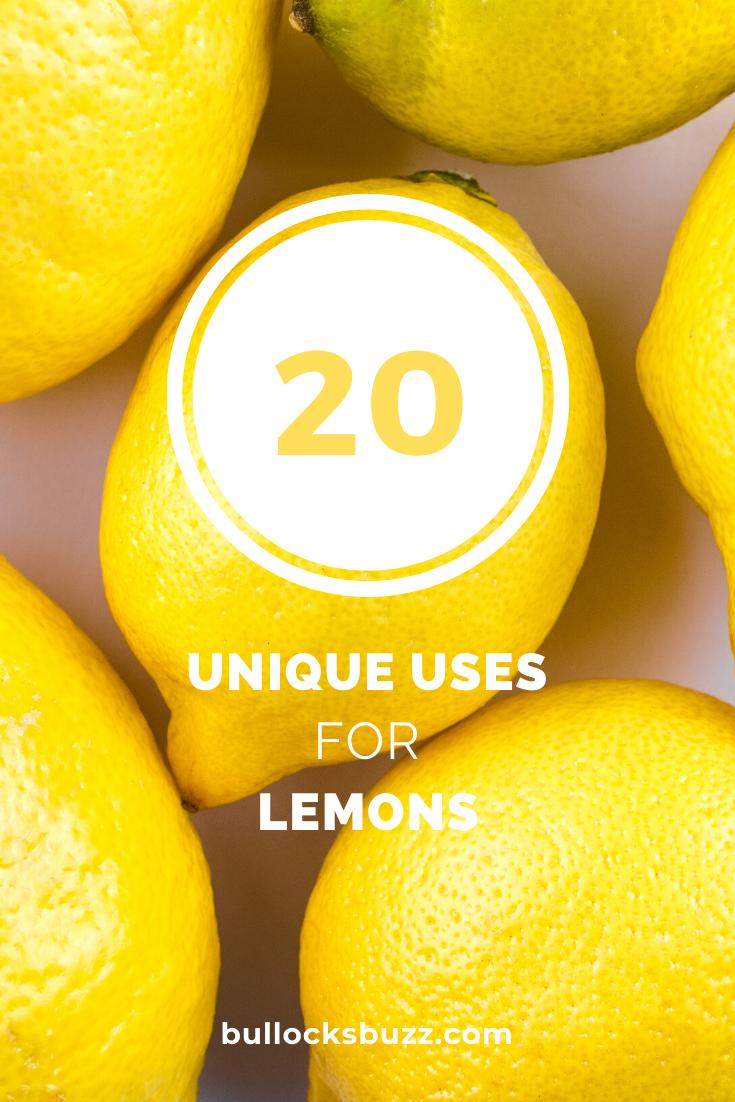 lemons - 20 unique uses for lemons
