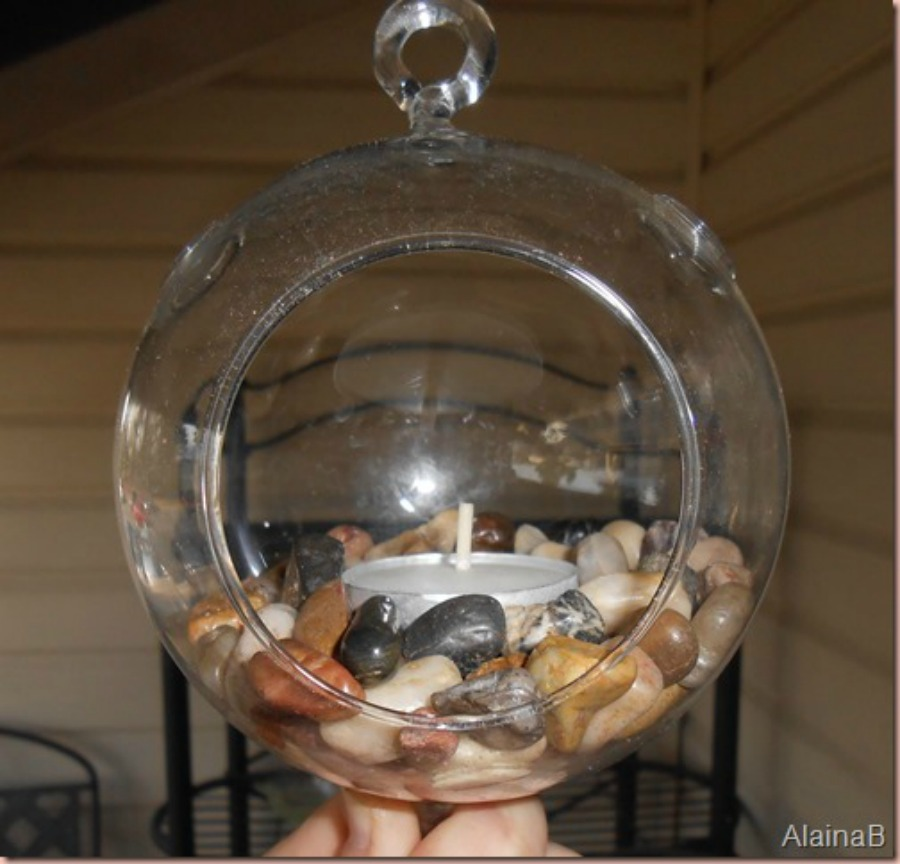diy terrarium globe three add a candle on top of rocks