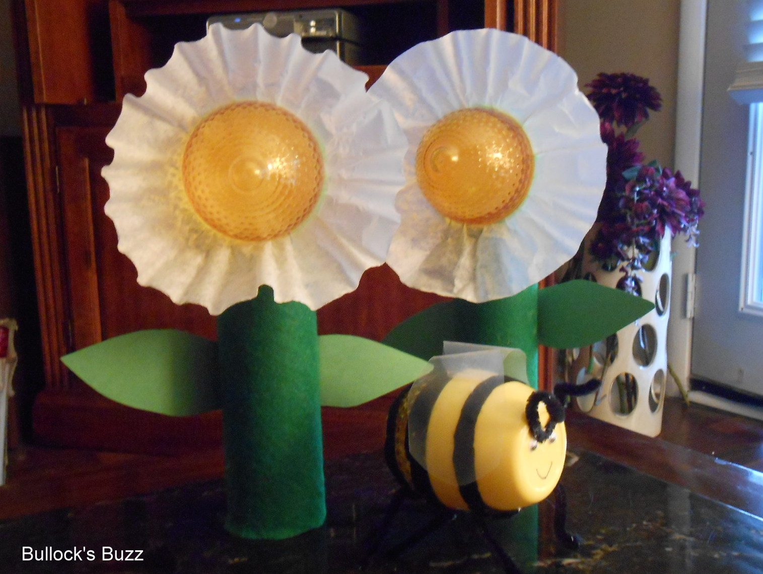 DIY Bumblebee Party Favor & Table Top Flower Candles: Good Cook Lemon Keeper Challenge