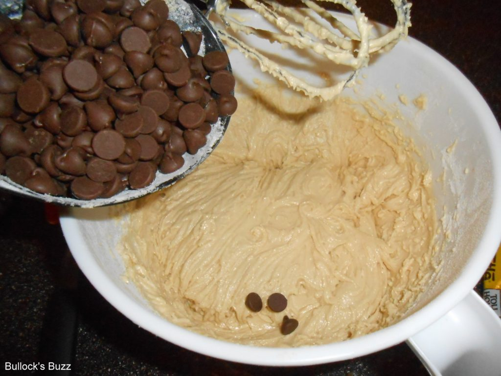 Double Chocolate Chip Cookies stir in chips