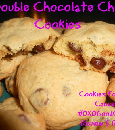 Double Chocolate Chip Cookies Recipe – Cookies for Kids Cancer #OXOGoodCookie