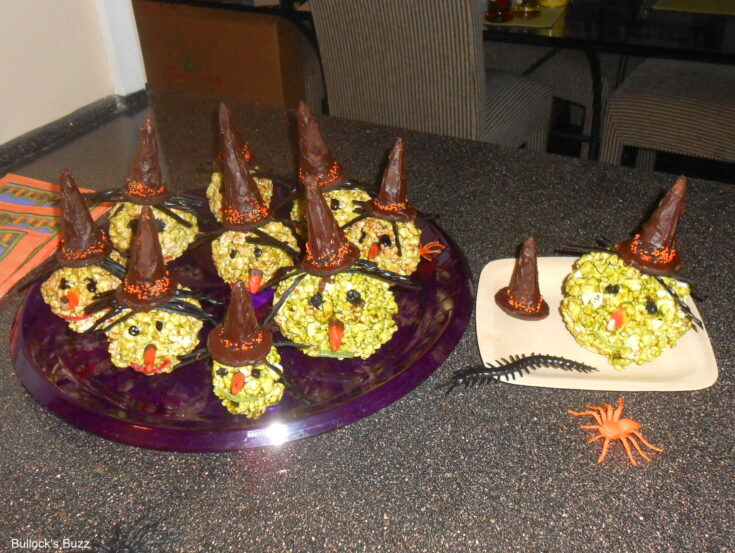 Spooky Halloween Popcorn Ball Witches