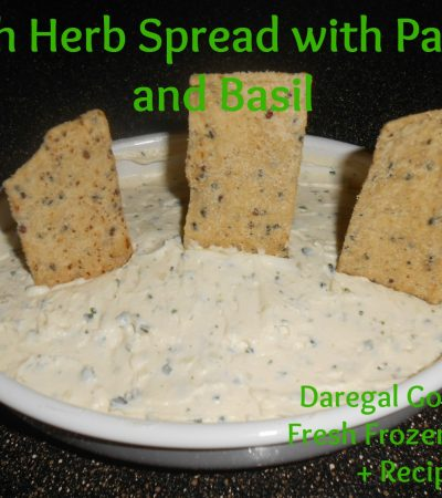 Fresh Herb Spread with Parsley and Basil: Daregal Gourmet Fresh Frozen Herbs
