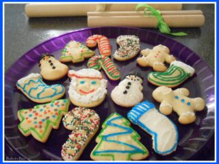 rolled sugar cookies for Christmas