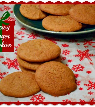 Big, Chewy Ginger Cookies Recipe ~ Cookies for the Holidays