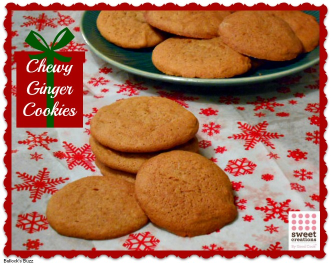 Big, Chewy Ginger Cookies Recipe ~ Cookies for the Holidays #sweetcreations