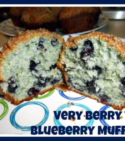 Wyman's Blueberries and a Very Berry Blueberry Muffin Recipe