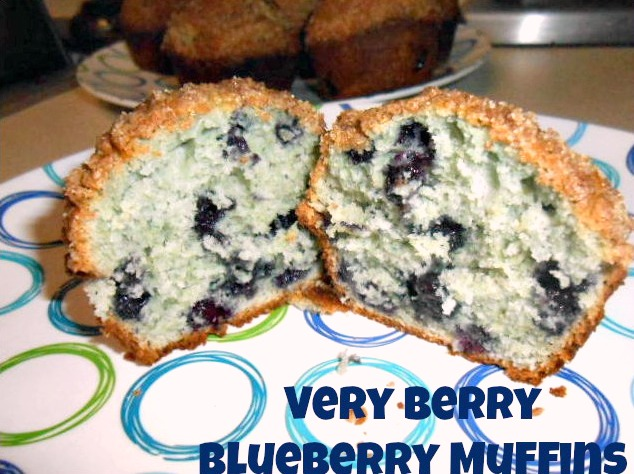 Very Berry Blueberry Muffins finished