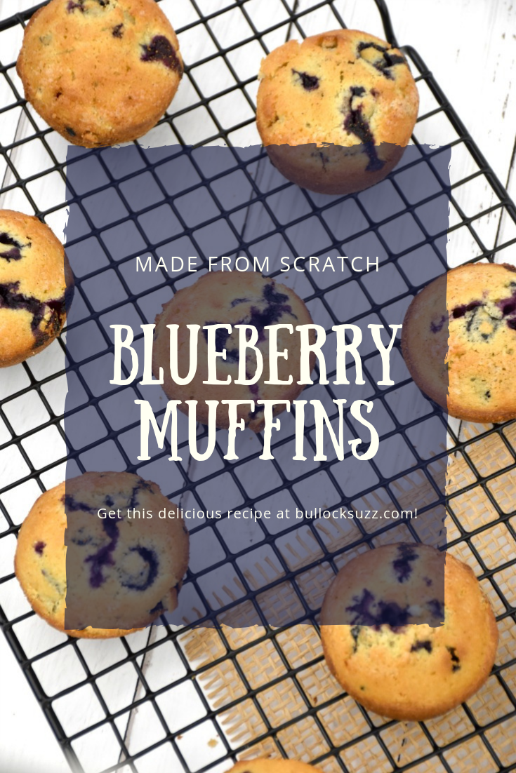 Filled with fat, juicy, naturally-sweet blueberries, these delicious blueberry muffins are incredibly easy to make. They are moist, tender and have just the right amount of sweetness.