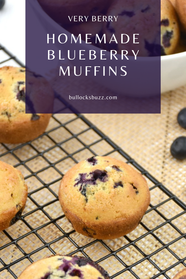 With crunchy top and moist tender insides, these homemade blueberry muffins are sure to become a family favorite!