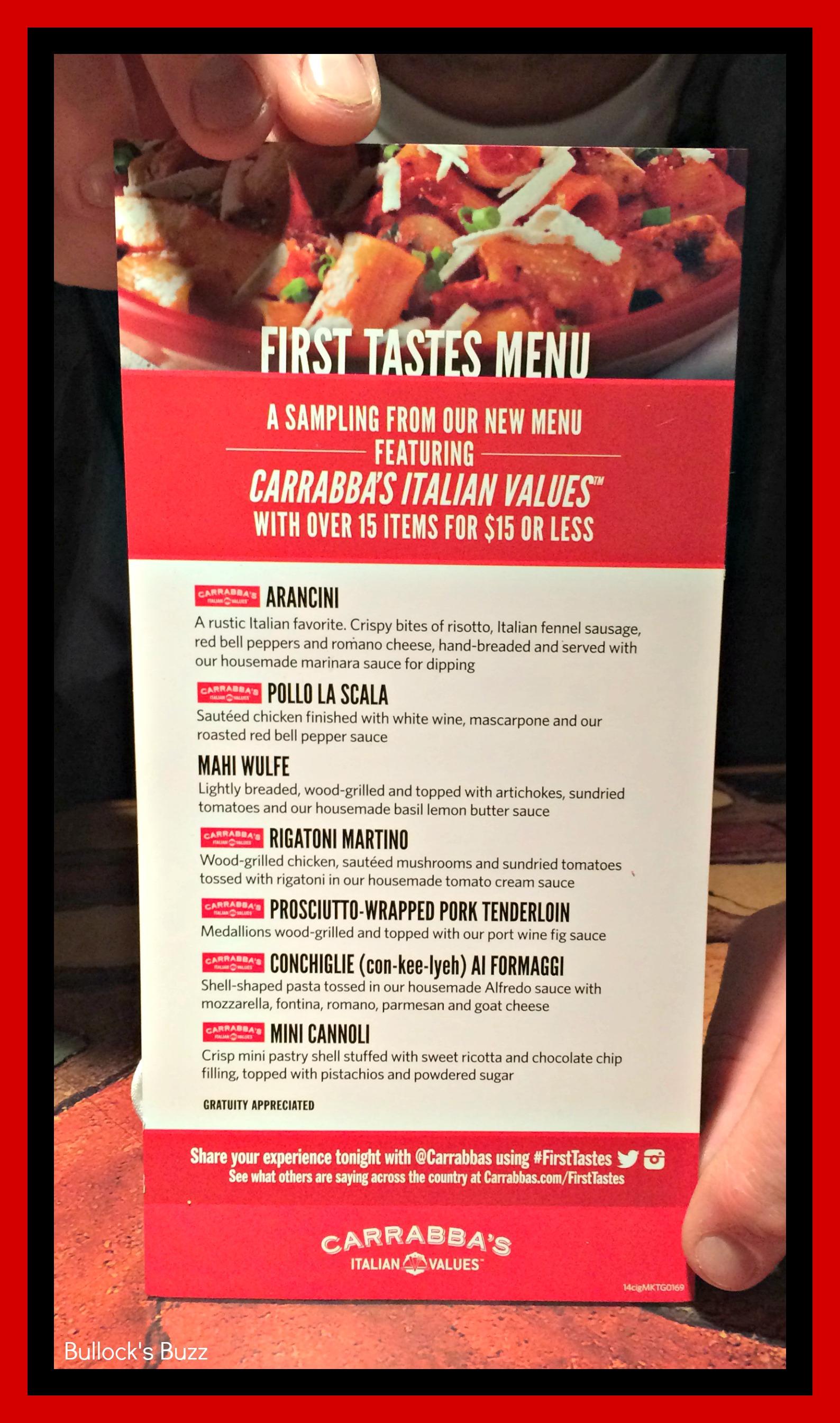 photograph about Carrabba's Printable Menu identify Carrabbas Fresh new Menu Italian Values - Around 15 Fresh Goods for