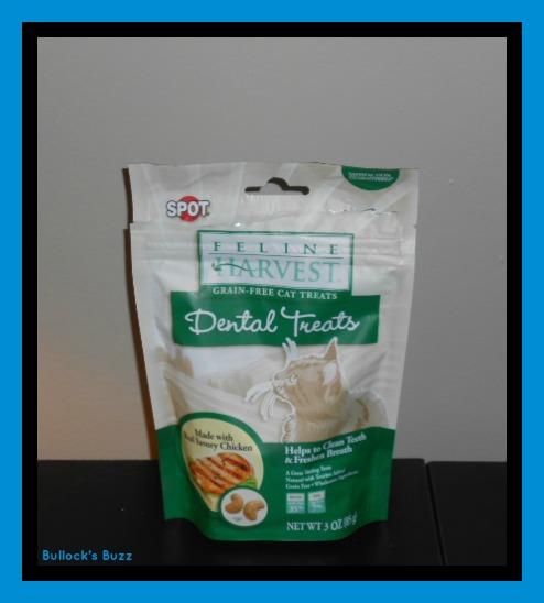 PetBox Review3a Feline Harvest Dental Treats bag