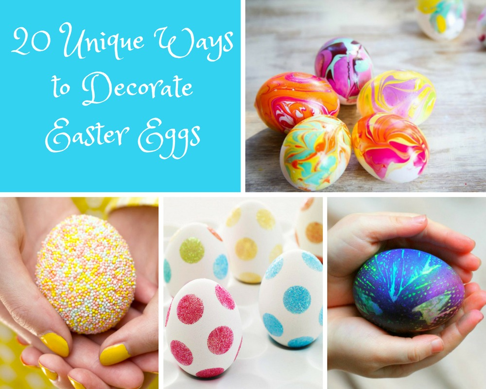 Mix Twenty Unique Ways To Decorate Easter Eggs