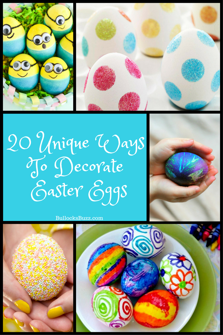 Put away the vinegar and dye and try one of these twenty unique ways to decorate Easter eggs!