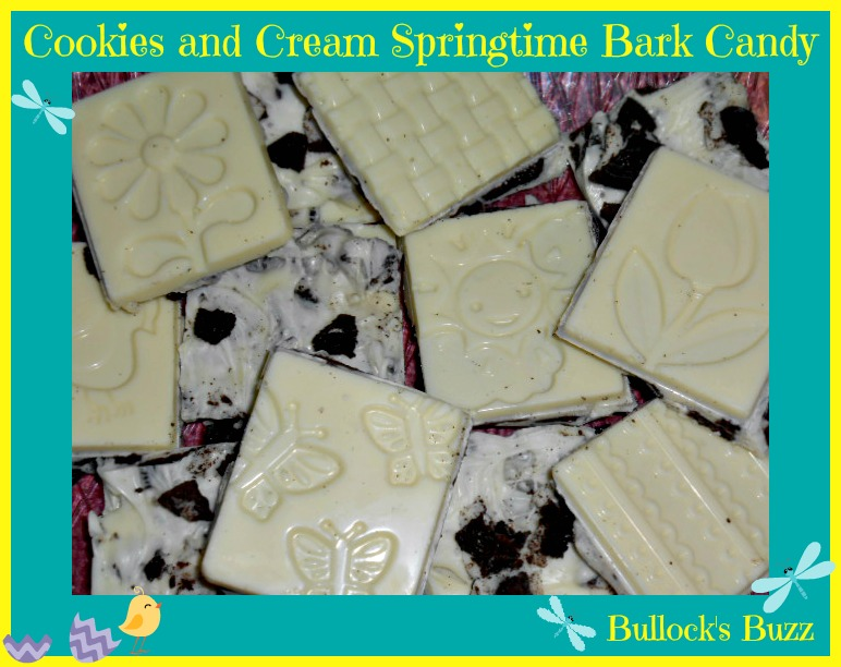 Cookies and Cream Springtime Bark Candy Recipe ~ A Good Cook Creation