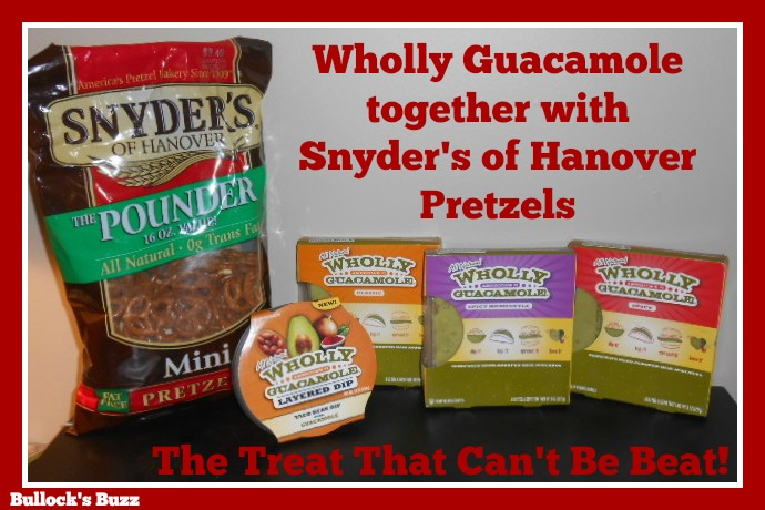 Wholly Guacamole and Snyders of Hanover Pretzels Review1