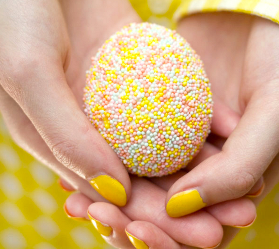 Decorate Easter Eggs sprinkles easter egg