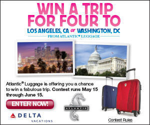 Win a Family Trip for Four from Atlantic Luggage!