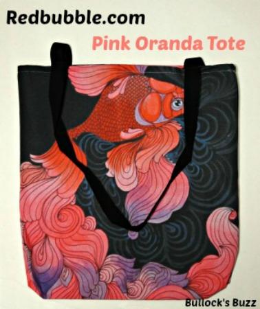 Redbubble-Pink-Oranda-tote-review1b