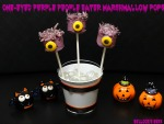 One-Eyed Purple People Eater Marshmallow Pops