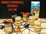 Orange Screamsicle Halloween Cupcakes in a Jar #TruMooTreats