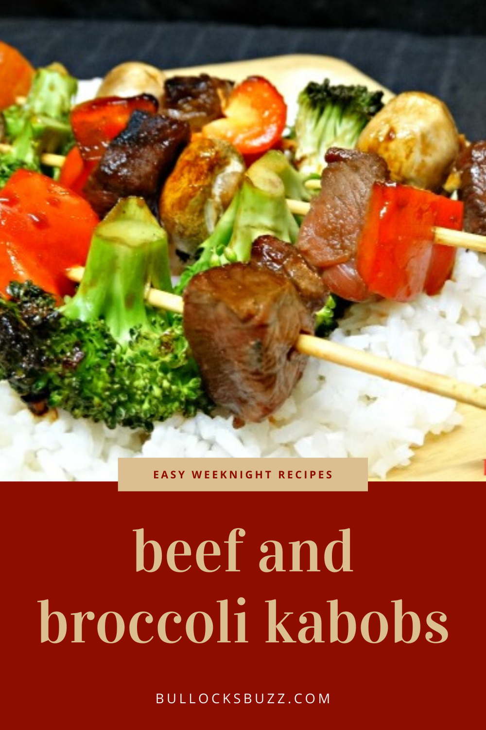 Tender meat and fresh broccoli and vegetables are marinated in a slightly sweet hoisin-based marinade then grilled over an open flame until ready in this delicious easy Beef and Vegetable Kabob recipe.