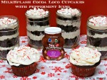 MilkSplash Cocoa Loco Cupcakes with Peppermint Icing: A Holiday Treat in a Jar!