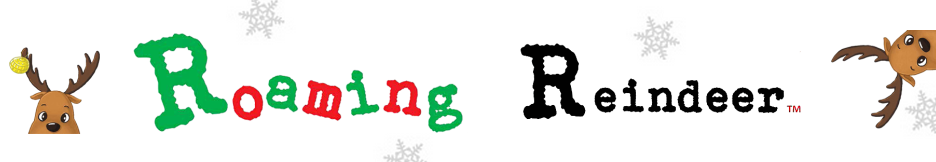 roaming reindeer Christmas activity kit logo