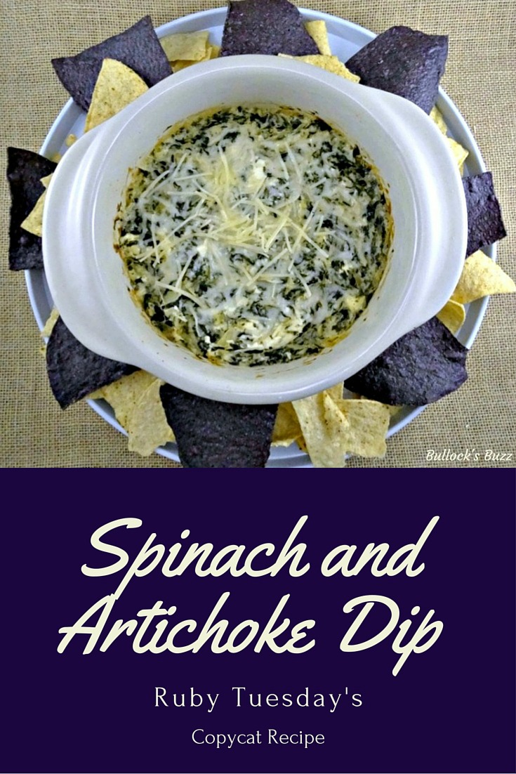 This copy cat recipe for Ruby Tuesday's Spinach and Artichoke Dip is quick, easy-to-make and oh-so-good! Rich, creamy and packed full of flavor!