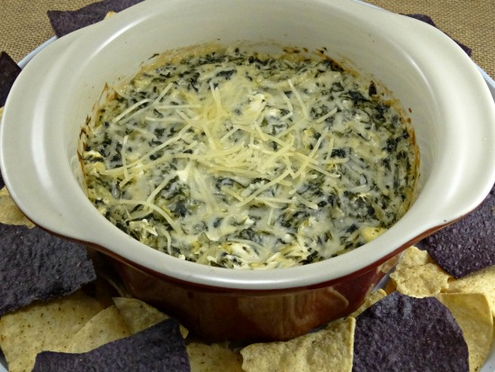 spinach and artichoke dip in bowl