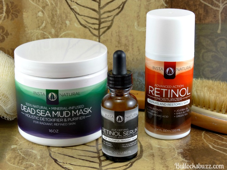 InstaNatural Skin Care: Dead Sea Mud Mask, Retinol Moisturizer and Age-Defying Retinol Serum
