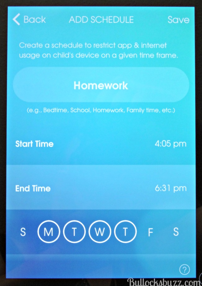 OurPact App Add Schedule managing your child's screen time