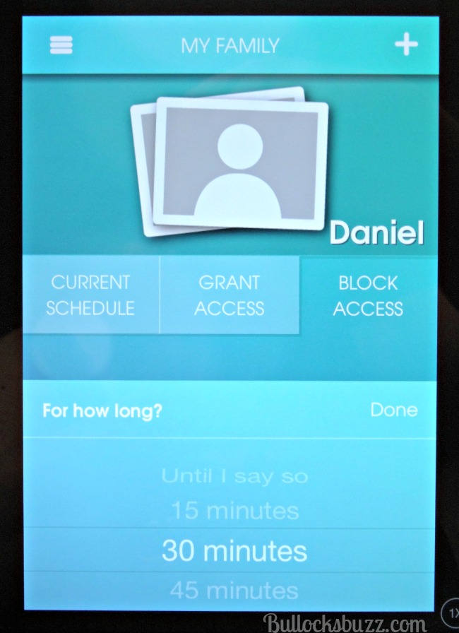 managing your child's screen time OurPact App One Touch Block