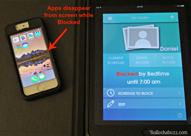 OurPact App Scheduled Block managing your child's screen time