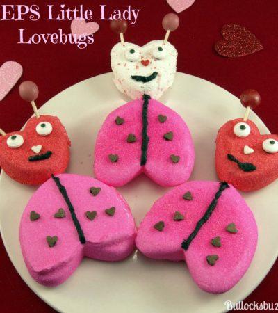 Valentine's Day PEEPS: Easy Last Minute Lady Lovebugs Treats