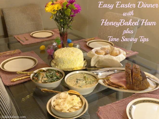 Easter Dinner and HoneyBaked Ham dinner set