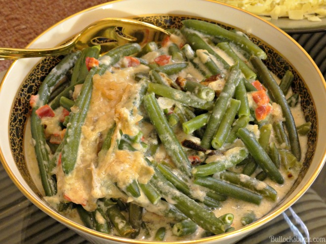 Easter Dinner and HoneyBaked Ham green bean casserole
