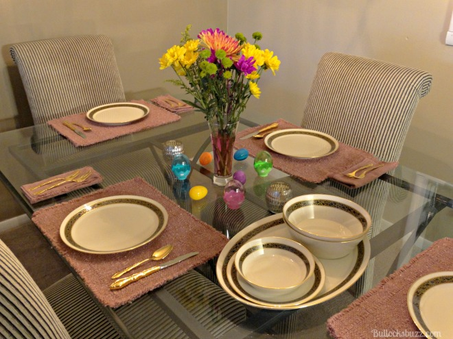 Easter HoneyBaked Ham Tablescape