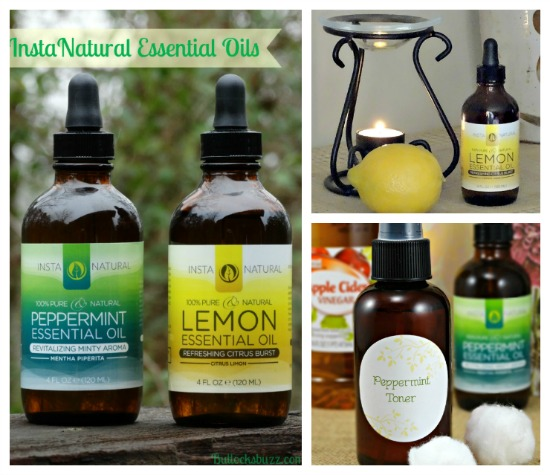 DIY Lemon All Purpose Cleaner and Peppermint Facial Toner Recipes with InstaNatural Lemon and Peppermint Essential Oils