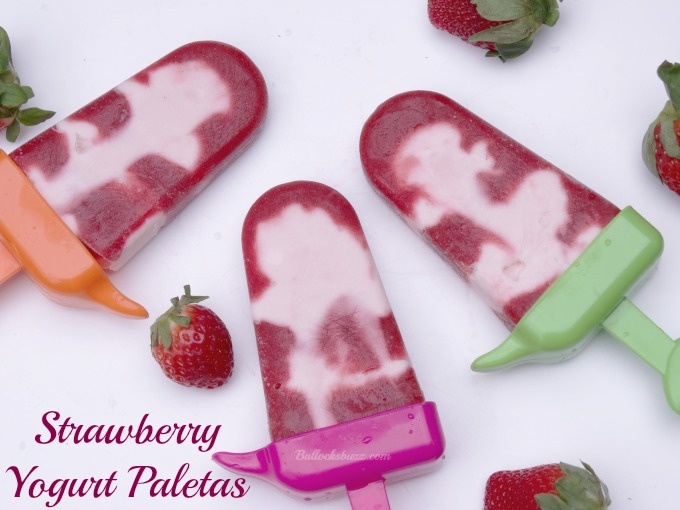 Strawberry Yogurt Paletas