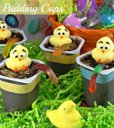 Easter Chick Pudding Cups #SnackPackMixins