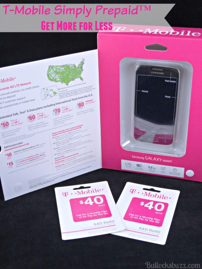 tmobile simply prepaid packaging