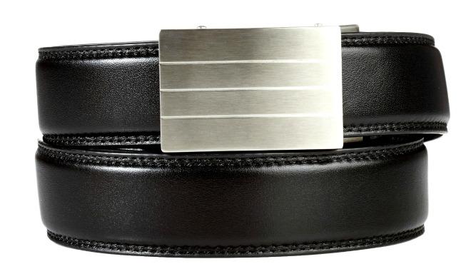 trackline belts Evolve stainless steel buckle, black belt giveaway prize