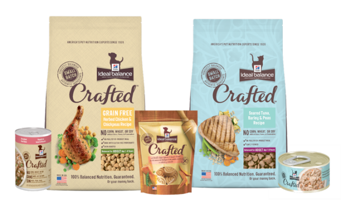 hills crafted cat food line up