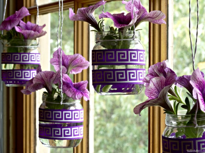 suavitel hanging flower vases