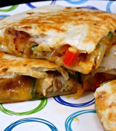 Chicken and Cheddar Quesadillas with Zaycon Chicken Breasts
