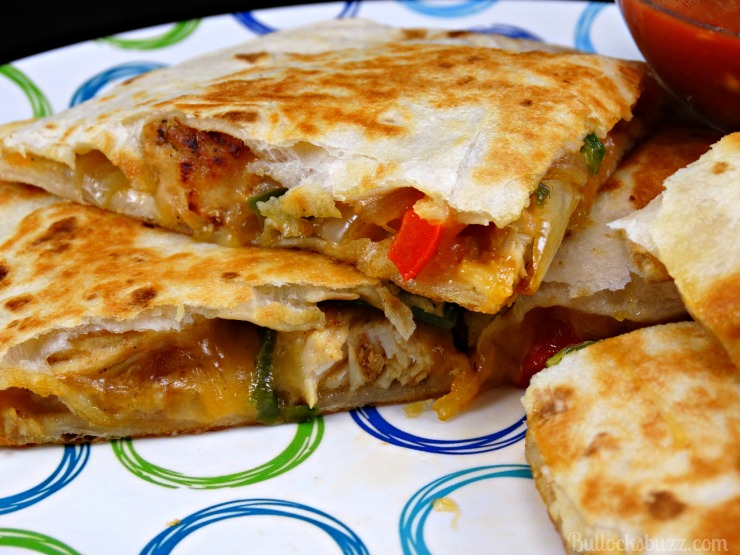 Chicken and Cheddar Quesadillas with Zaycon Chicken Breasts