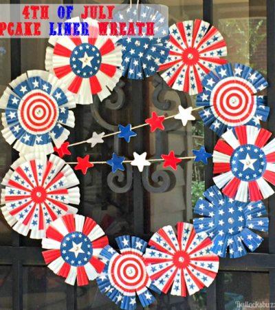 Patriotic Cupcake Liner Wreath – Quick and Easy Tutorial