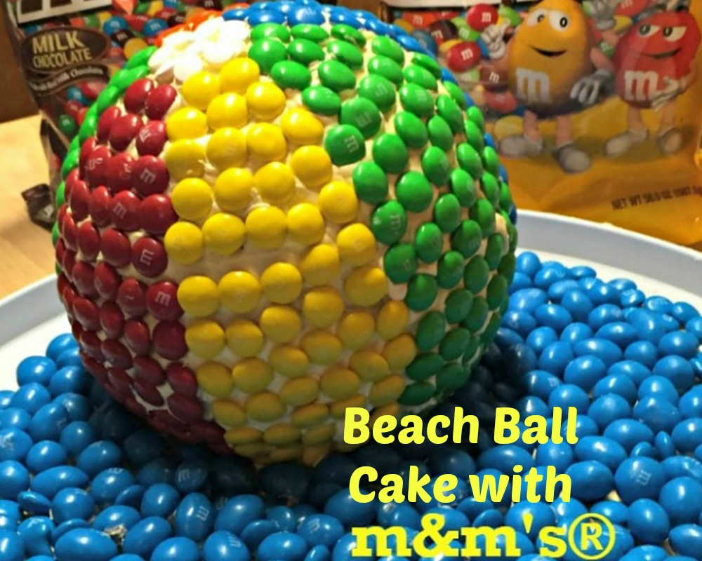 Beach Ball Cake with M&M's